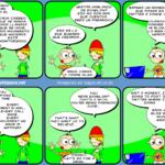 Humor, demasiados datos, la tira Linux Hispano