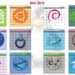 Calendario de pared linuxero de 2015